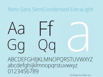 Noto Sans SemiCondensed ExtraLight Version 2.000图片样张