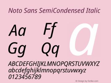 Noto Sans SemiCondensed Italic Version 2.000图片样张