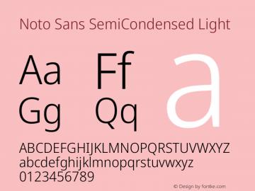 Noto Sans SemiCondensed Light Version 2.000图片样张