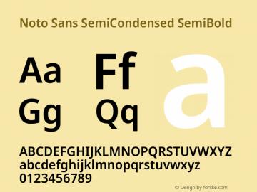 Noto Sans SemiCondensed SemiBold Version 2.000图片样张