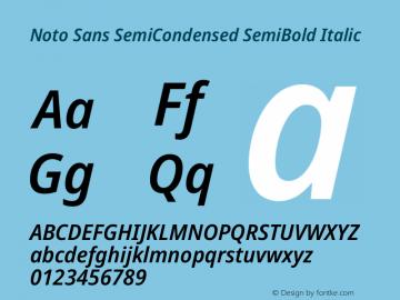 Noto Sans SemiCondensed SemiBold Italic Version 2.000图片样张