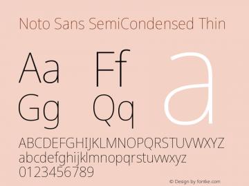 Noto Sans SemiCondensed Thin Version 2.000图片样张