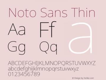 Noto Sans Thin Version 2.000图片样张