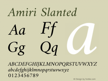 Amiri Slanted Version 000.111图片样张