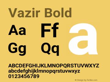 Vazir Bold Version 17.0.0图片样张