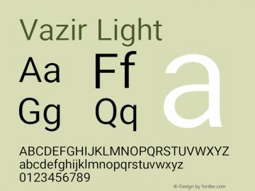 Vazir Light Version 17.0.0图片样张