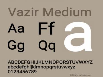 Vazir Medium Version 17.0.0图片样张