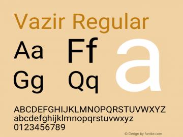 Vazir Version 17.1.0图片样张