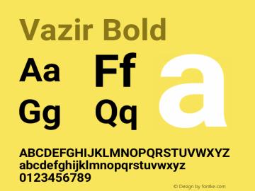 Vazir Bold Version 17.1.0图片样张