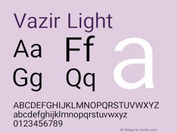 Vazir Light Version 17.1.0图片样张