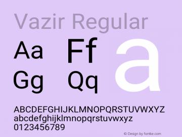 Vazir Version 17.1.1图片样张