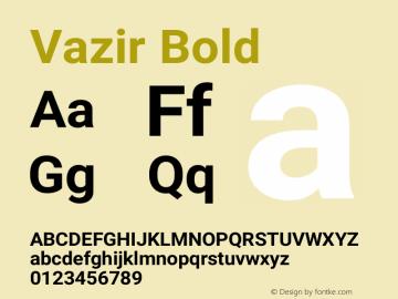 Vazir Bold Version 17.1.1图片样张