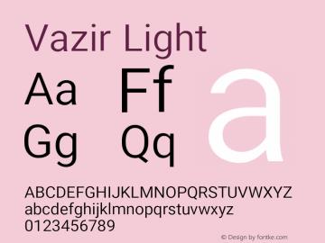 Vazir Light Version 17.1.1图片样张
