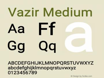 Vazir Medium Version 17.1.1图片样张