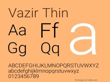 Vazir Thin Version 17.1.1图片样张