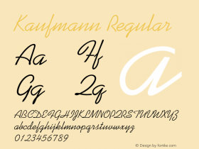 Kaufmann Regular 1.0 Font Sample