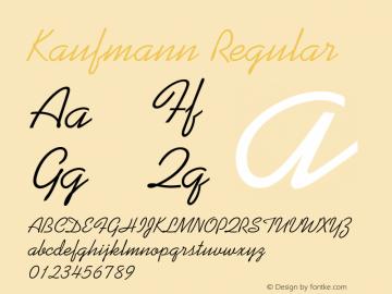 Kaufmann Regular 1.0图片样张