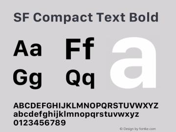 SF Compact Text Bold 12.0d4e10图片样张