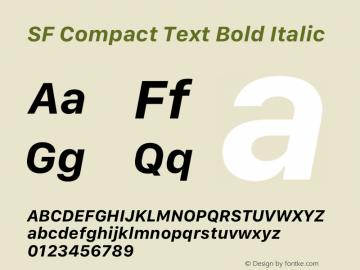 SF Compact Text Bold Italic 12.0d4e10图片样张