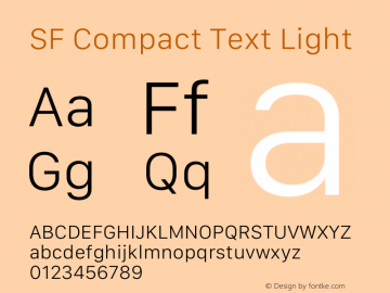 SF Compact Text Light 12.0d4e10图片样张