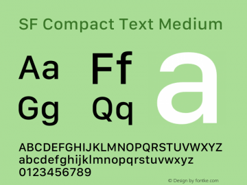 SF Compact Text Medium 12.0d4e10图片样张