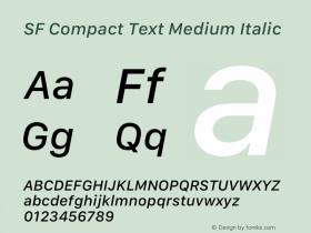 SF Compact Text Medium Italic 12.0d4e10图片样张