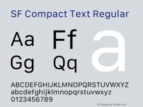 SF Compact Text Regular 12.0d4e10图片样张