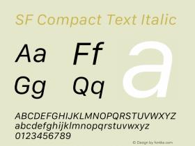 SF Compact Text Italic 12.0d4e10图片样张