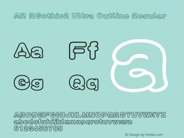 AR RGothic2 Ultra Outline Version 2.10图片样张