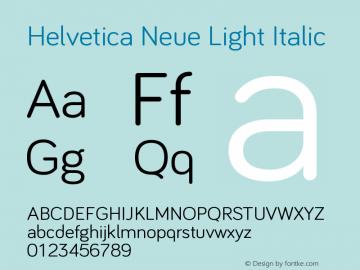 Helvetica Neue Font,Helvetica Neue Light Italic Font