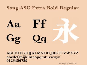 Song ASC Extra Bold Version 1.00图片样张