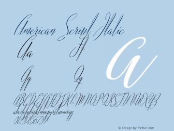 AmericanScript-Italic Version 1.000图片样张