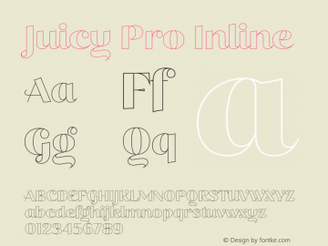 Juicy Pro Inline Version 2.000;PS 002.000;hotconv 1.0.88;makeotf.lib2.5.64775图片样张