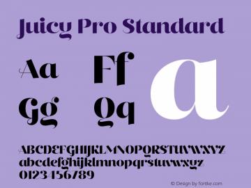 Juicy Pro Standard Version 2.000;PS 002.000;hotconv 1.0.88;makeotf.lib2.5.64775图片样张