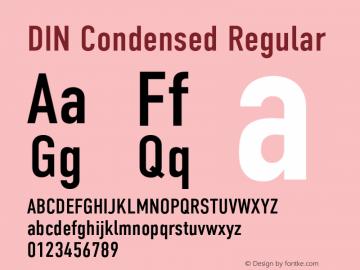 DIN Condensed Version 1.004图片样张