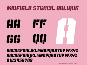 Midfield Stencil Oblique Version 1.001图片样张