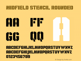 Midfield Stencil Rounded Version 1.001图片样张