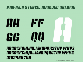 Midfield Stencil Rounded Obliq Version 1.001图片样张