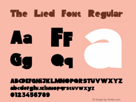 The Lied Font Regular Version 1.000;PS 001.000;hotconv 1.0.88;makeotf.lib2.5.64775图片样张