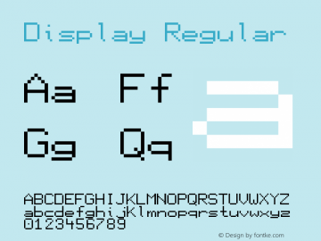 Display Regular Version 1.0图片样张