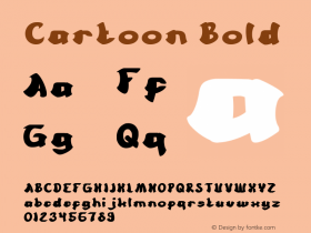 Cartoon Bold Version 1.00;March 1, 2018;FontCreator 11.5.0.2421 64-bit图片样张