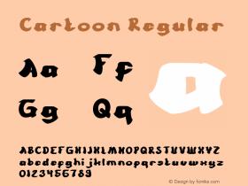 Cartoon Version 1.00;March 1, 2018;FontCreator 11.5.0.2421 64-bit图片样张