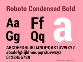 Roboto Condensed Bold Version 1.200311; 2013图片样张