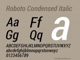 Roboto Condensed Italic Version 1.200311; 2013图片样张