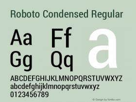Roboto Condensed Regular Version 1.200311; 2013图片样张