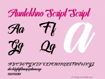 AuntekhnoScript 1.000图片样张
