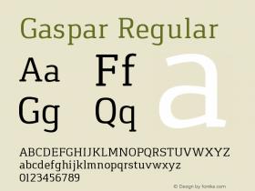 Gaspar Regular Version 1.000 2012 initial release图片样张
