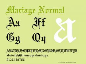 Mariage Normal 001.000 Font Sample