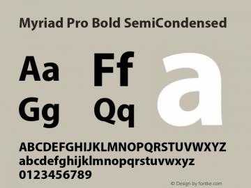 Myriad Pro Font,MyriadPro-BoldSemiCn Font,Myriad Pro