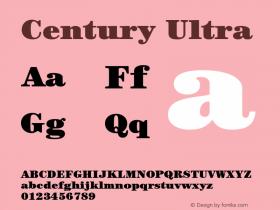 Century-Ultra Version 2.031;PS 002.000;hotconv 1.0.50;makeotf.lib2.0.16970图片样张